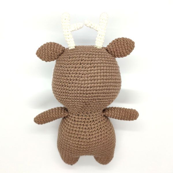 Gấu bông móc len hình tuần lộc úp
