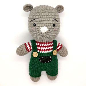Gấu bông móc len hình gấu mặc áo