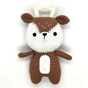 Gấu bông móc len hình tuần lộc