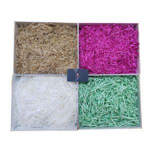 Giấy rơm lót hộp quà nhiều màu tùy chọn