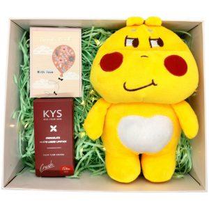 Hộp quà with love gấu bông và son HQ03