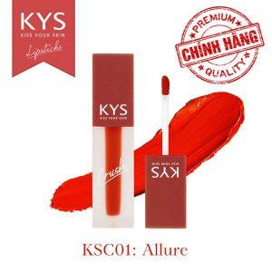 Son kem KYS Chocolate Crush – ALLURE (Đỏ Cam) KSC01