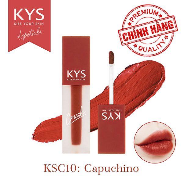 Son kem KYS Chocolate Crush - Caphuchino (Đỏ gạch) KCS10