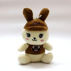 Thỏ bông dễ thương đội mũ nâu (27Cm) TB03