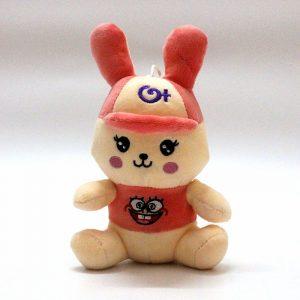 Thỏ bông đội mũ hồng dễ thương (25Cm) TB04