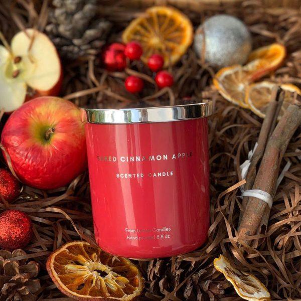 Nến thơm cao cấp Lumos BAKED CINNAMON APPLE (Tông ngọt) - NT202