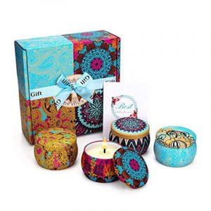 Hộp quà tặng nến thơm cao cấp hộp thiếc 4 mùi hương - HQ10